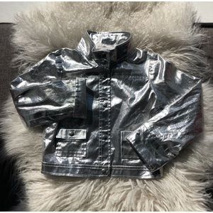 Silver Lisa Perry Kids Jacket